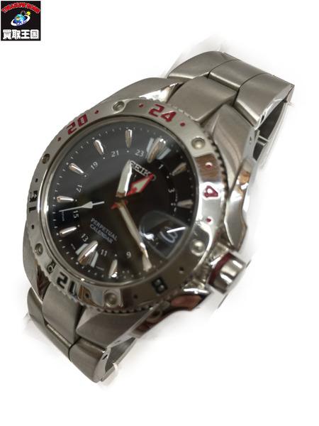 SEIKO パーペチュアルカレンダー 腕時計 8F56-002A セイコー クォーツウォッチ【中古】[▼]