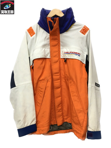 90s TOMMY HILFIGER セーリングジャケット (M) マルチカラー KEVLAR【中古】