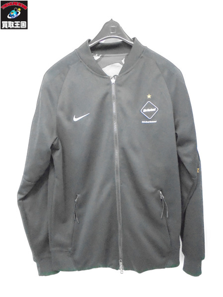 NIKE FCRB 16SS DRI-FIT REVERSIBLE KNIT WARM UP JACKET S 黒【中古】[値下]