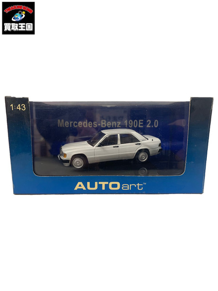 AutoArt 1/43 Aa Mercedes-Benz 190E W201 White【中古】