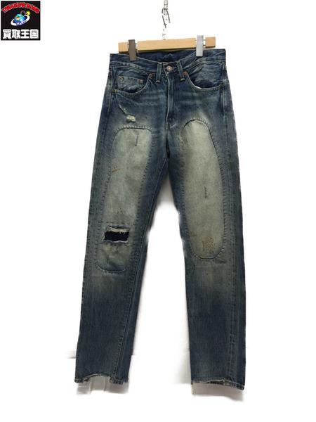 LEVI'S VINTAGE CLOTHING 501Z XX デニムパンツ W28xL32 ライトブルー【中古】