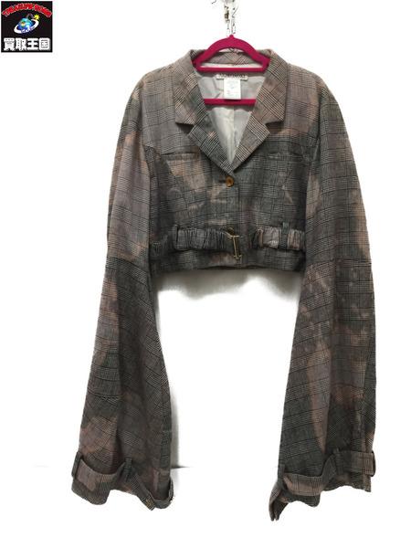 AKIKO AOKI 16AW Bleach Colour Jacket AA16AW-JK02 F グレー/ピンク【中古】[▼]