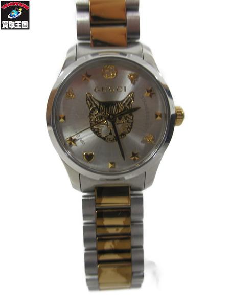 GUCCI QZ腕時計126.5Gタイムレス猫【中古】[▼]