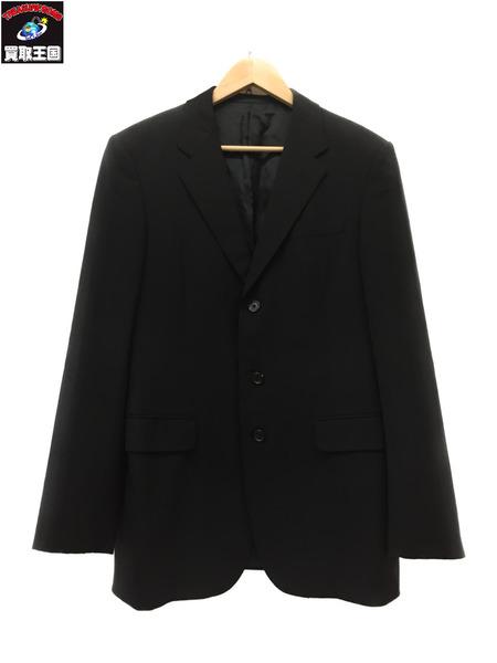 PRADA ヴァージンウール 3B テーラードジャケット Size48R BLK プラダ ブランドジャケット【中古】