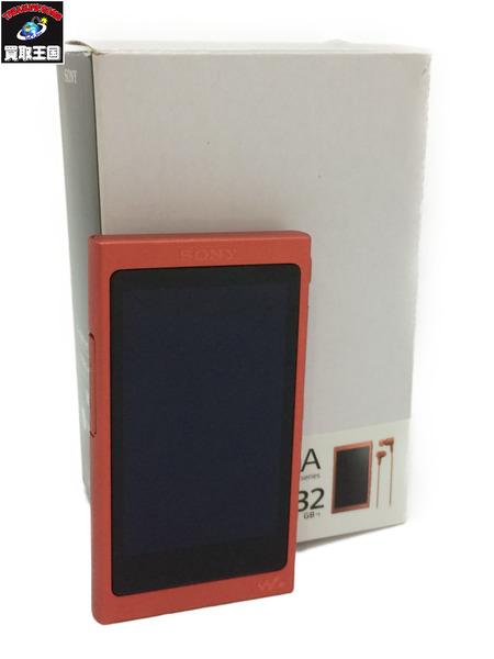 ソニー SONY ウォークマン Aシリーズ 32GB トワイライトレッド NW-A46HN グリップ欠品【中古】