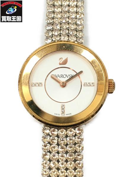SWAROVSKI スワロフスキー PIAZZA MINI 5027319 QZ 腕時計 ゴールド【中古】