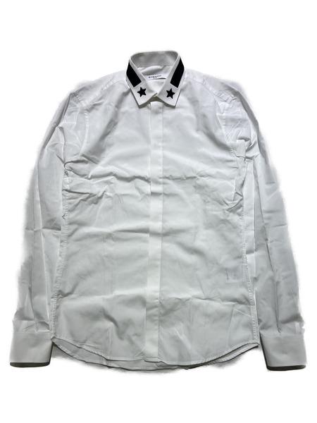 GIVENCHY/スターカラーデザインシャツ/38/ホワイト【中古】[▼]