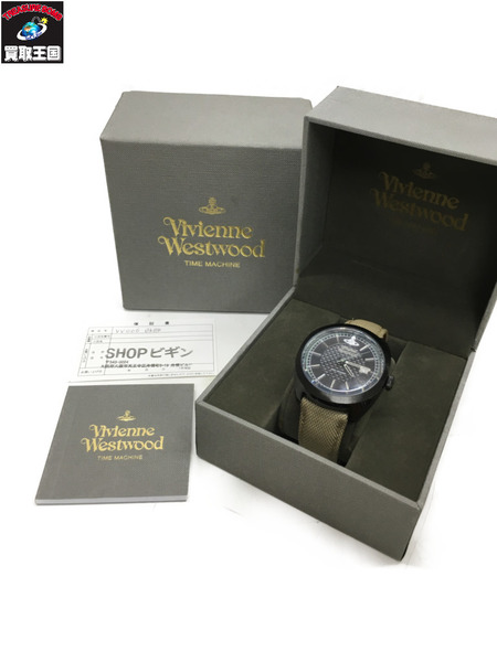 Vivienne Westwood ヴィヴィアン 腕時計/VV136BKBG クォーツ キャンバスベルト【中古】