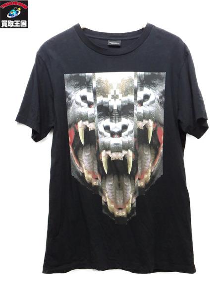 MARCELO BURLON LAS TORTOLAS Tシャツ マルセロブロン 黒 ブラック【中古】