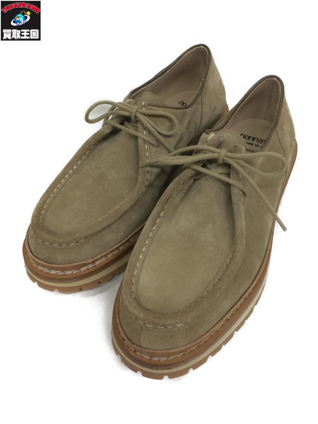 nonnative 18SS WORKER MOC SHOES COW SUEDE(41) ベージュ【中古】