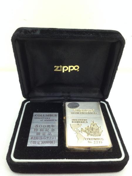 ZIPPO COLUMBUS DISCOVERY of AMERICA 500周年特別記念限定品【中古】