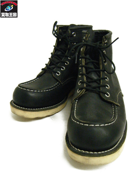 RED WING モックトゥブーツ 26cm 9075 黒【中古】