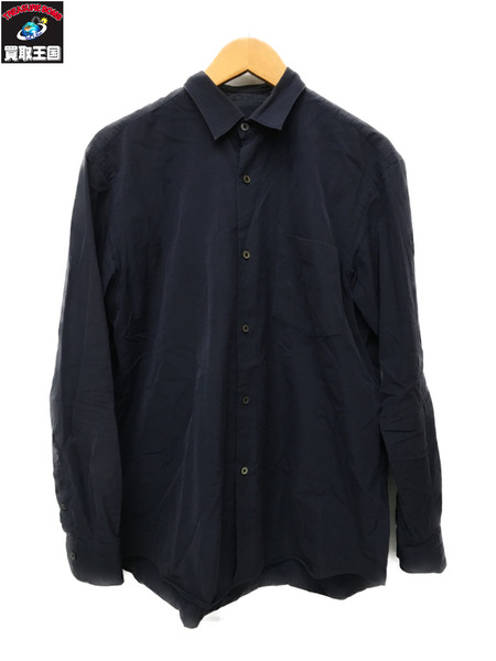 COMOLI L/Sシャツ ネイビー (1)【中古】