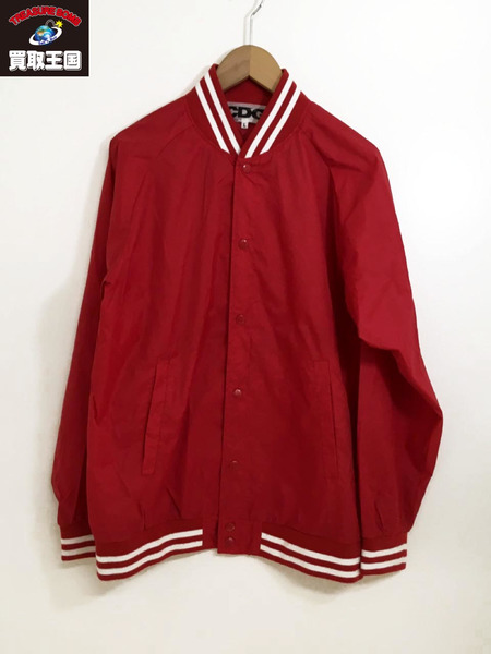 COMME des GARCONS CDG スタジャン (size:L) 赤【中古】