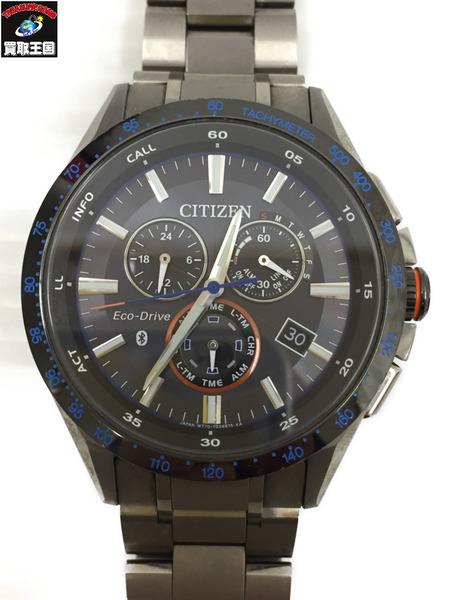 シチズン Bluetooth Watch チタニウム エコドライブ ソーラー電波 腕時計 シルバー 【中古】[▼]