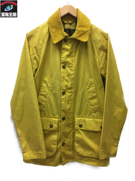 Barbour BEDALE SL Overdyed イエロー (36)【中古】