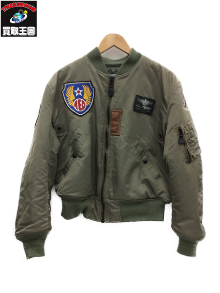 TED MAN テッドマン MA-1ジャケット (40) カーキ TED COMPANY テッドカンパニー【中古】