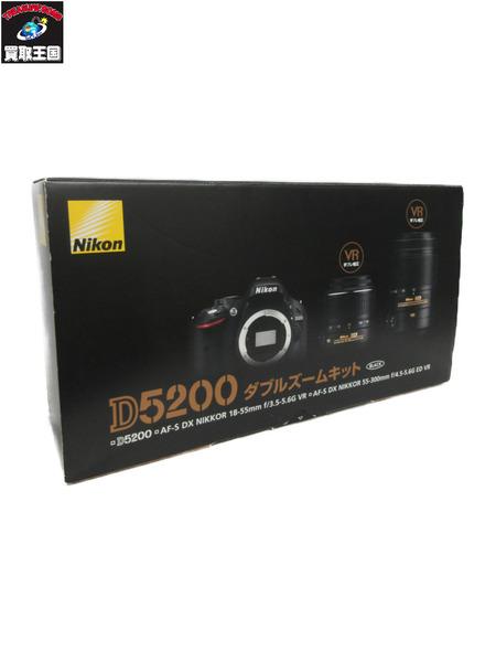 Nikon デジタル一眼カメラ D5200 ダブルズームキット【中古】