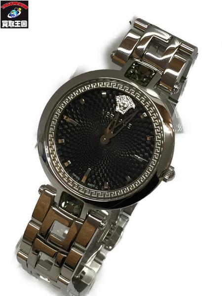 VERSACE クリスタルグリーム レディースQZ VAN030016 ヴェルサーチ CRYSTAL GLEAM 腕時計 クォーツウォッチ【中古】