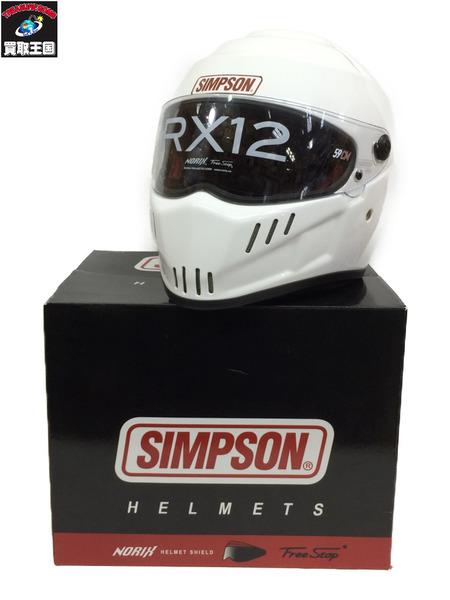 SIMPSON スピードウェイRX12ヘルメット 白【中古】