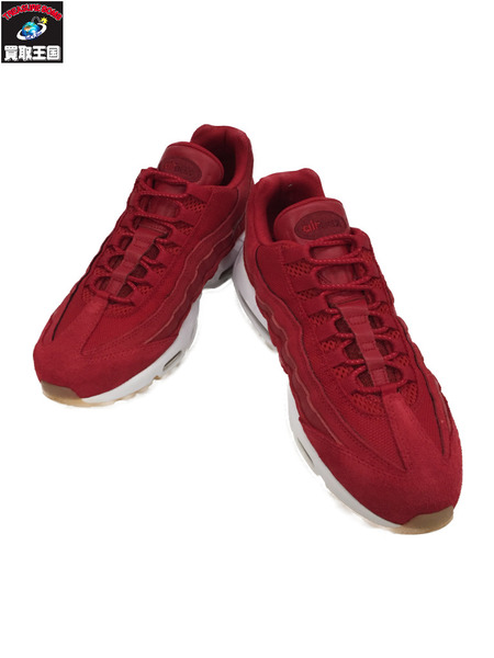 NIKE AIR MAX 95 PRM GYM RED/TEAM RED/WHITE/GYM RED size26.5【中古】[▼]