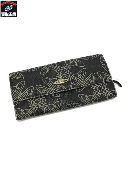 Vivienne Westwood LONG WALLET LOGOMANIA BLK 財布【中古】