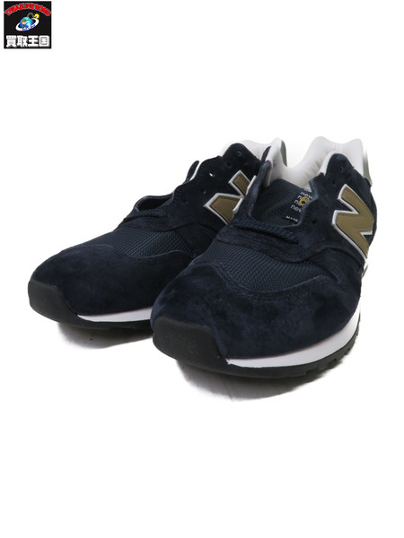 NEW BALANCE M670NNG - Made in England Navy/Gold 26.0【中古】