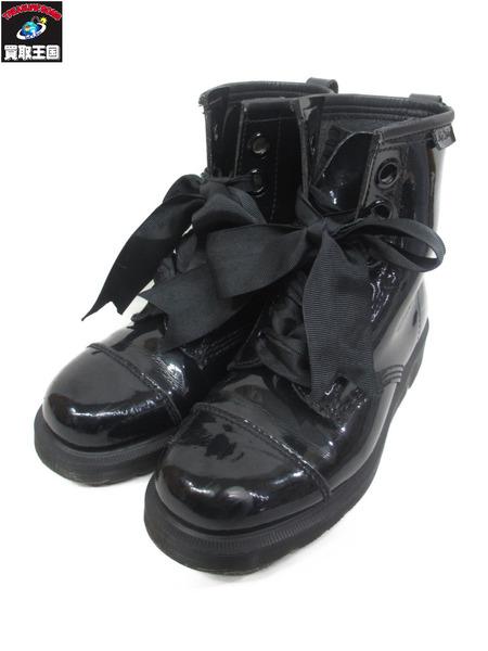 Dr.Martens 6Hパテントリボンレースブーツ(UK5)黒【中古】