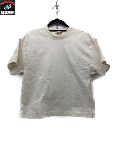 AURALEE 16SS STAND UP TEE WHITE 1 A6ST06SU オーラリー スタンド アップ Tシャツ【中古】