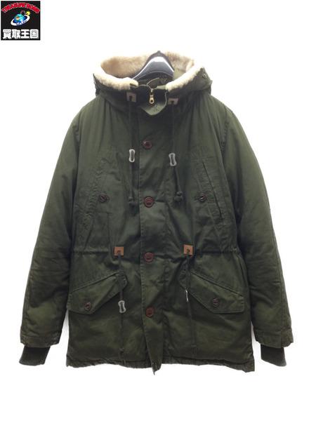 Snow Peak WAXED DOWN JACKET (M) オリーブ【中古】