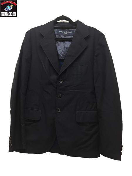 COMME des GARCONS HOMME AD2013 メッシュ裏地 ストライプテーラードジャケット SizeS NVY コム デ ギャルソン・オム【中古】