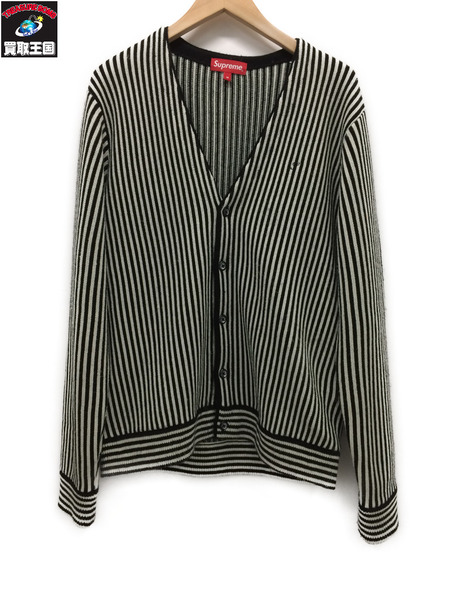 シュプリーム Supreme Micro Stripe Cardigan (M) 17SS【中古】[値下]