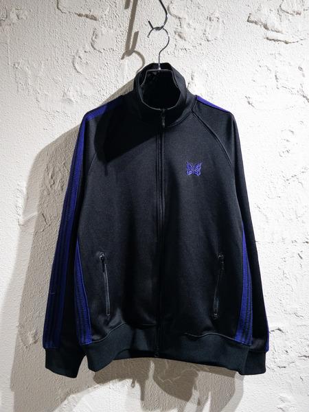 Needles/18AW/Track Jacket/S/ブラック/パープル【中古】