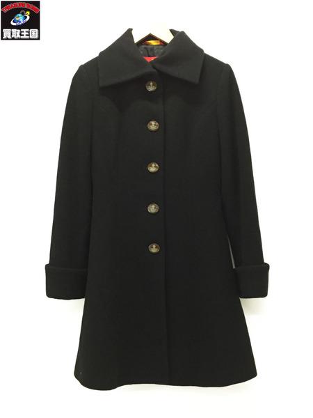 Vivienne Westwood red label/ウールコート/黒/2【中古】[▼]