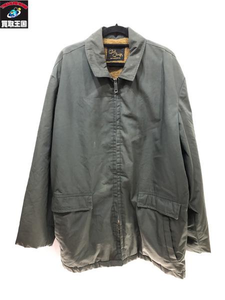 CAL CRAFT 80'S 裏起毛 ジップジャケット オリーブ キャルクラフト【中古】