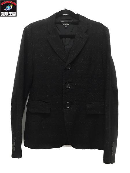 BLACK COMME des GARCONS AD2012 混紡ラメ糸ジャケット BLK SizeS ブラック コム・デ・ギャルソン【中古】