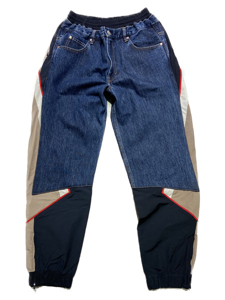 MARTINE ROSE/hybrid denim track pant/Dark Denim【中古】[▼]