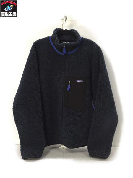 Patagonia 19AW Classic Retro Jacket ネイビー/黒 L【中古】