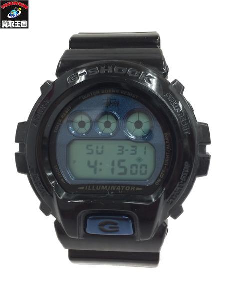 G-SHOCK × STUSSY DW-6900ST 30周年限定モデル 腕時計 黒【中古】
