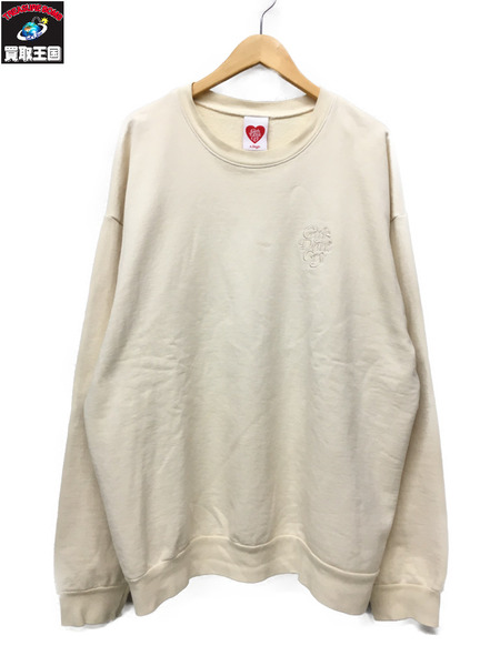 Girl's Don't Cry Tonal Crewneck Sweatshirt (XL) クリームホワイト【中古】