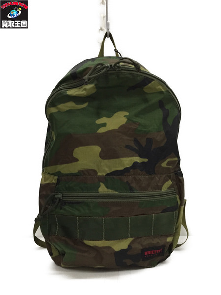 BRIEFING PACKABLE DAYPACK カモ柄デイバッグ【中古】[▼]