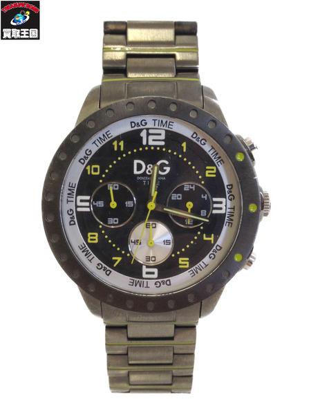 D&G TIME TIME D&G ドルガバ クロノグラフ クォーツ 腕時計 クォーツ【中古】, いつもアンのお花屋さん:5267c8ab --- officewill.xsrv.jp