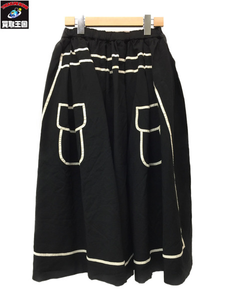 COMME des GARCONS COMME des GARCONS デザインスカート S 黒【中古】