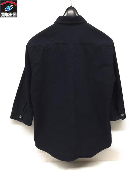 シャツ 【中古】 NVY size2 [▼] 七分袖 BURBERRY BLACK LABEL