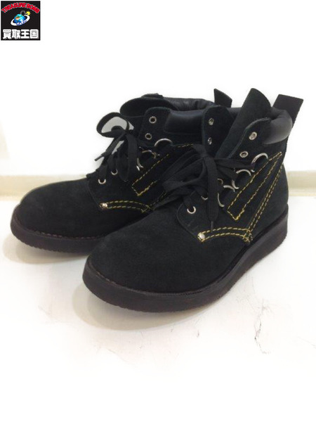 R.J.B D Ring Suede Boots BLK (SIZE:7.5E)【中古】[▼]