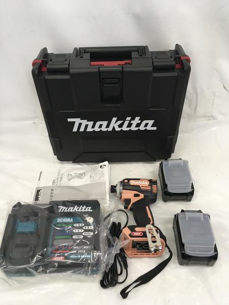 未使用 makita 40V充電式インパクトドライバ TD001GDXFC【中古】