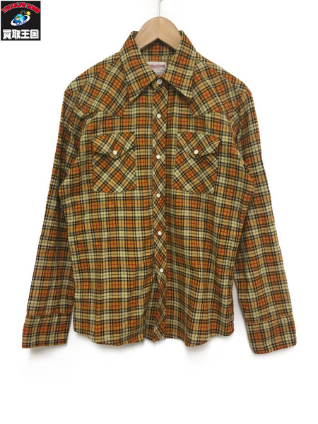 TOYS McCOY/TAXI DRIVER/PRINTED COTTON CHECK WESTERN SHIRT/16【中古】