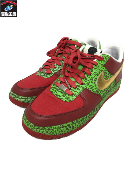 NIKE AIR FORCE 1 LOW SUPREME I/O QUESTLOVE(28.5)赤緑【中古】[▼]