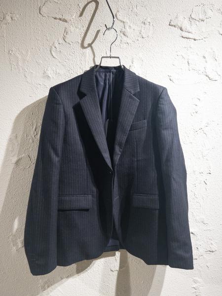 UNUSED/2Bストライプウールジャケット/1/ブラック【中古】