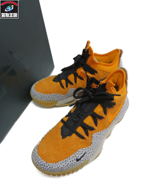 NIKE ATOMOS LEBRON 16 LOW AC (26.0cm) KUMQUAT/KUMQUAT-BLACK【中古】